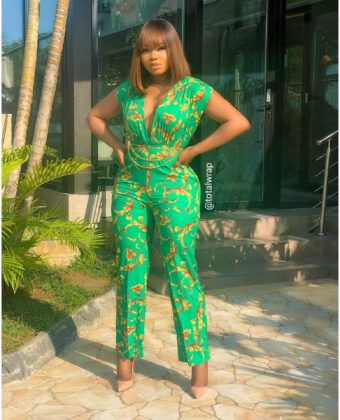 Green Print Jumpsuit ( No Belt )