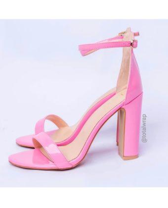 Pink Block Heel Sandal