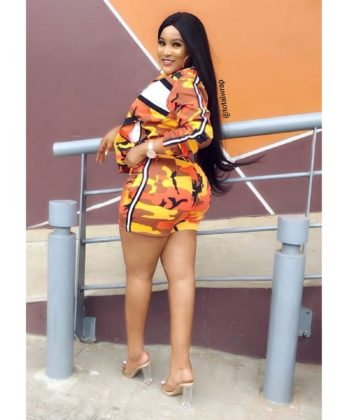 Orange Camo Shorts