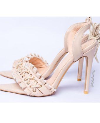 Nude Tie Up Sandal