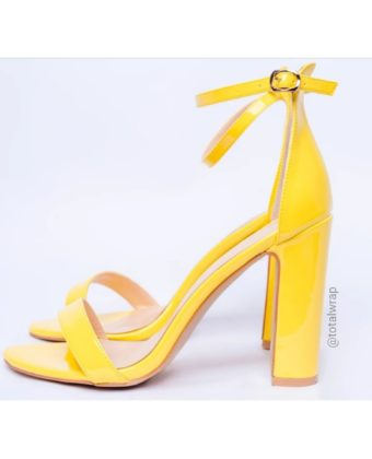 Yellow Block Heel Sandal