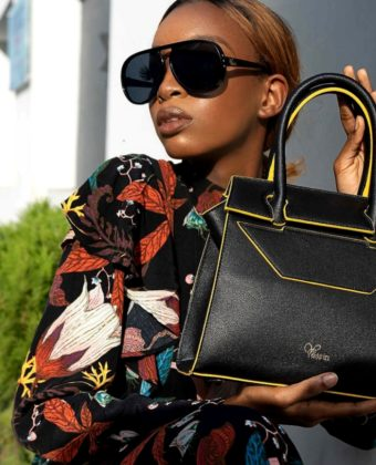 Black/Gold Tessy Bag By Yessin
