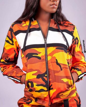 Orange Rebel Camo Hoodie Jacket